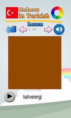 Learn Colors in Turkish - screenshot
