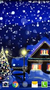 Vánoční Night Live Wallpaper - náhled