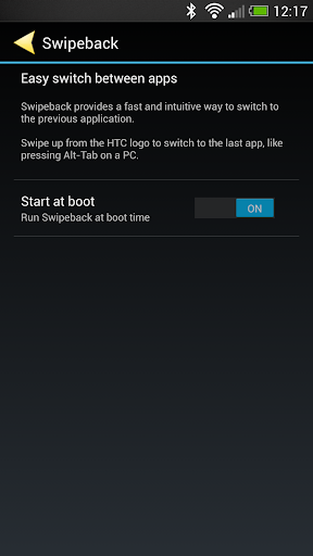 Swipeback for HTC One