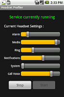 Screenshot of Headset Profiler