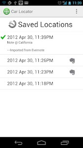 Car Locator Evernote Plugin screenshot 4