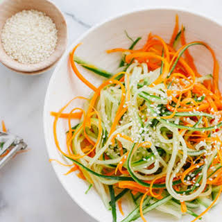 Asian Cucumber and Carrot Slaw.