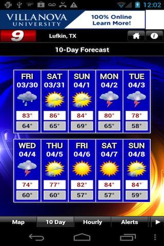 KTRE 9 StormTracker Weather - screenshot