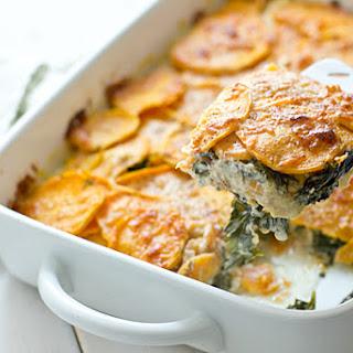 Sweet Potato & Kale Gratin.