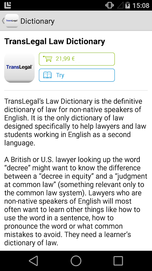 TransLegal's Law Dictionary APK Cracked Free Download