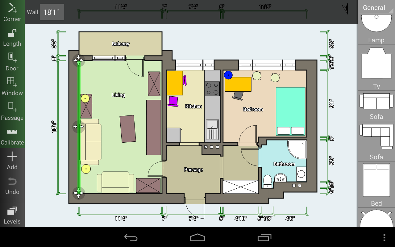 Floor plan creator android apps on google play for Bedroom blueprint maker