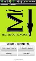 Screenshot of Cotizacion Extendida