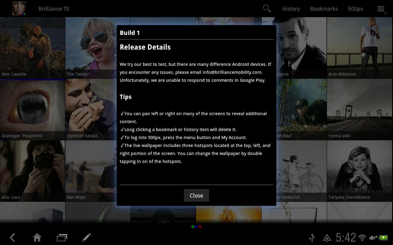 Brilliance Tablet Edition - screenshot