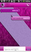 Screenshot of GO SMS THEME/DancingDiva1