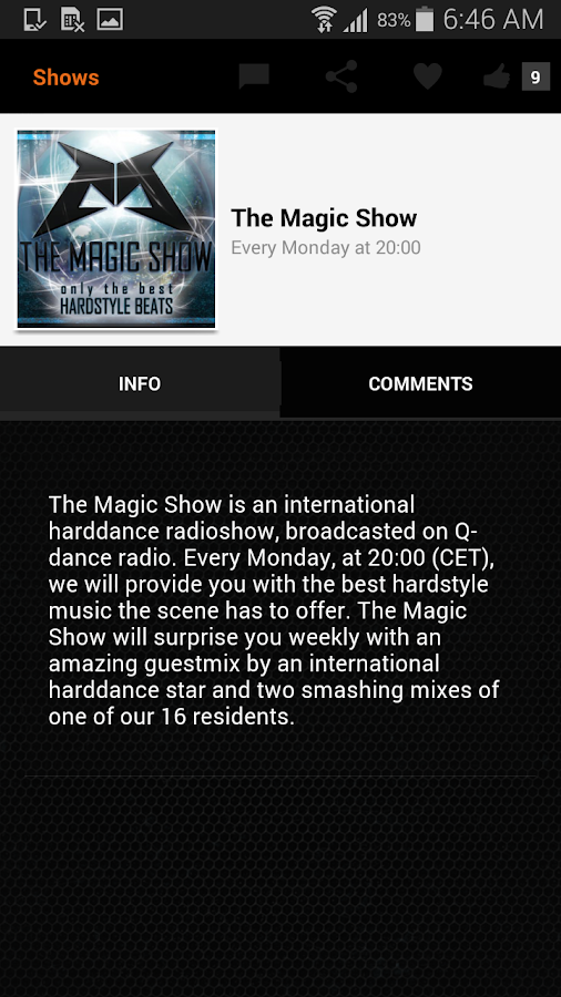 Q-dance Radio: screenshot
