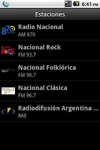 Radio Nacional Argentina screenshot 0