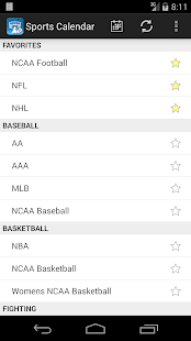 Sports Calendar - screenshot thumbnail