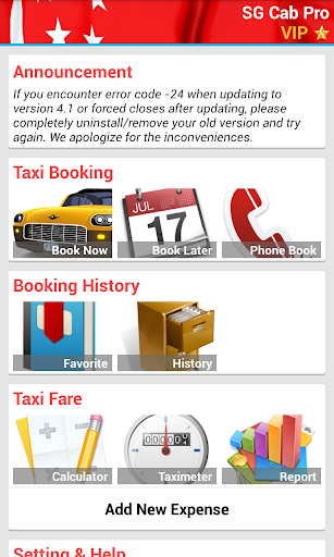 SG Cab Pro Taxi Booking