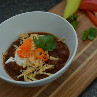 Slow Cooker Beefy No Bean Chili