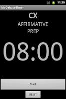 Screenshot of My Debate Timer