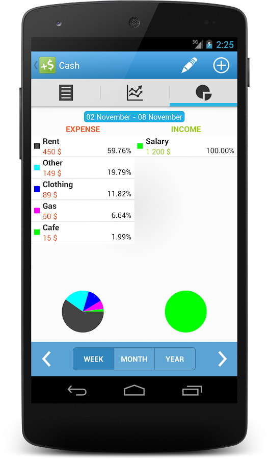 CashFlow Free Expense manager- screenshot