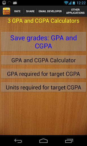 3 GPA and CGPA Calculators