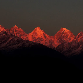 Blood mountain........ by Chandradeep Ghosh - Landscapes Mountains & Hills