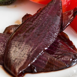 Red Onions in Balsamic Vinegar Reduction.