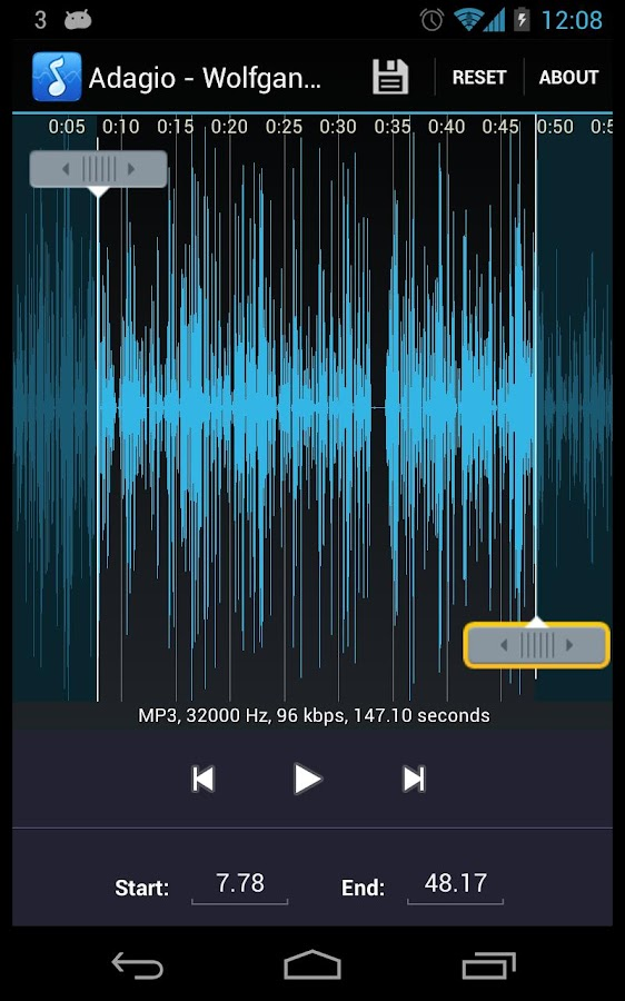 MP3 Ringtone Maker / Cutter- screenshot