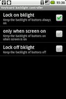 Screenshot of Keyboard backlight controller