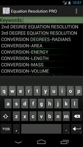 Equations Resolution PRO