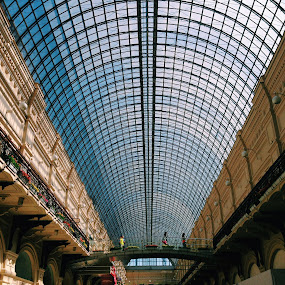 Moscow by Kseniya Maksimenko - Buildings & Architecture Bridges & Suspended Structures ( town )
