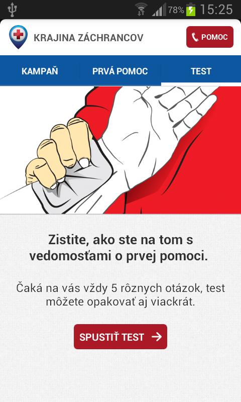 Prvá pomoc- screenshot