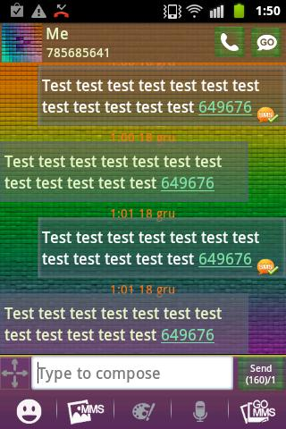 GO SMS Theme Color Pixel - screenshot