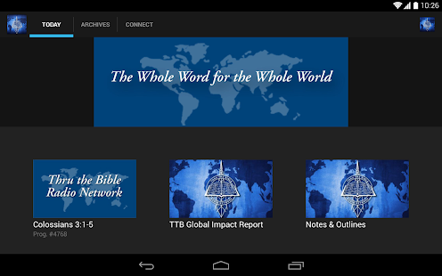 Thru The Bible Radio Network - screenshot thumbnail