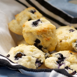 Blueberry Sour Cream Drop Biscuits
