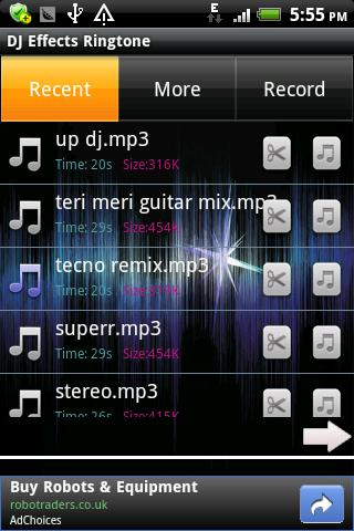 DJ Effects Ringtone - screenshot