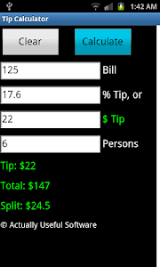 Tip Calculator screenshot 1