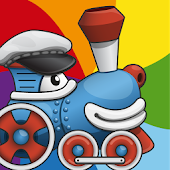 Rainbow Train: teach colors