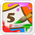 Kids Coloring and Math icon