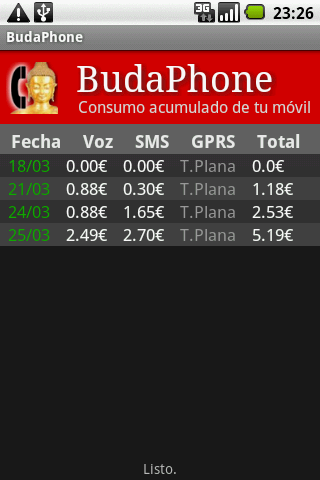 BudaPhone - screenshot