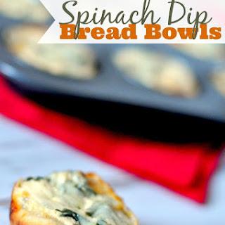 Spinach Dip Bread Bowls