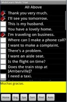 Screenshot of Multilanguage Phrasebook