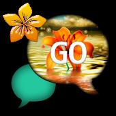 GO SMS THEME/OrangeFlower