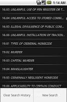 Screenshot of TXLaw - Penal Code - Criminal