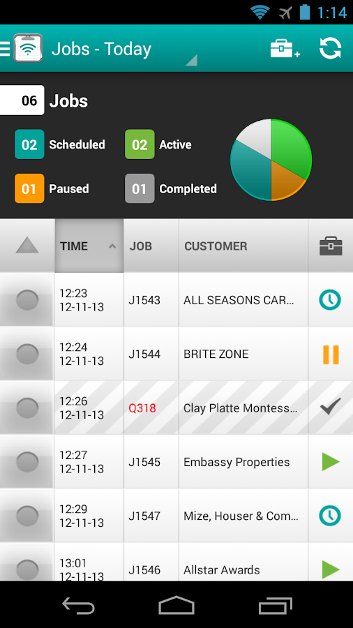 FieldAware Mobile- screenshot