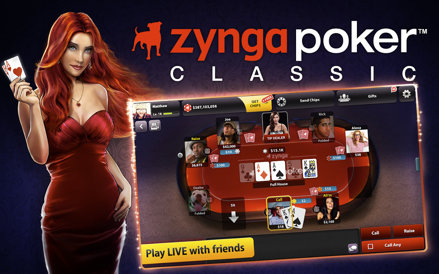 zynga poker cards