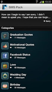 SMS Template Collection Pack - screenshot thumbnail