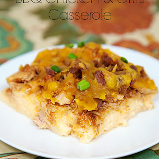 BBQ Chicken and Grits Casserole.