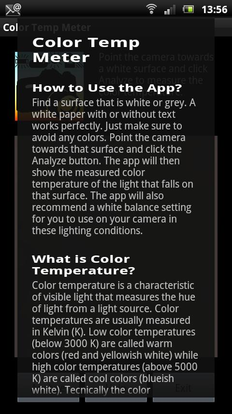White Balance Color Temp Meter- screenshot