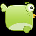 GO SMS bird bubble Theme