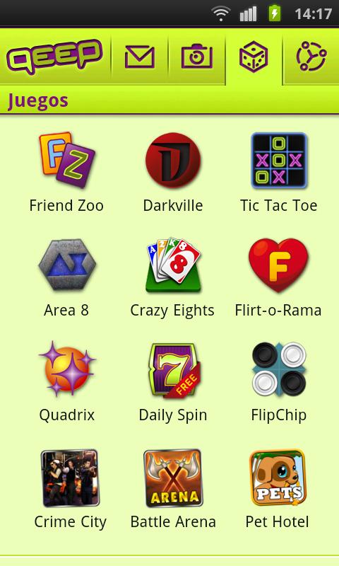 Qeep: Chatea, liga, haz amigos: captura de pantalla
