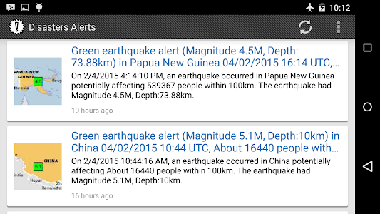 Disasters Alerts screenshot 3