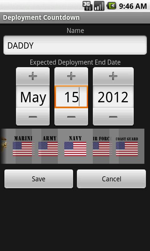 Deployment Countdown - screenshot