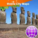Easter Island, Hanga Roa Map logo